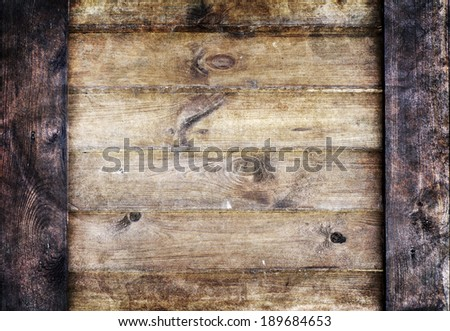 old wood plank background - stock photo