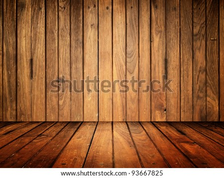 Old wood room texture for web background - stock photo
