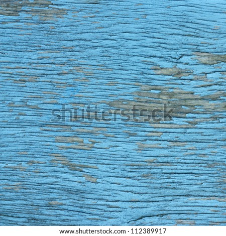 old wood texture background blue color painted - stock photo