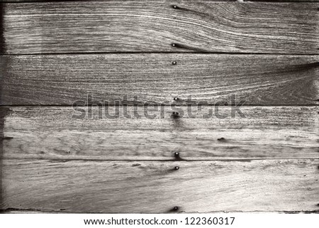 Old wood wall for messages. - stock photo