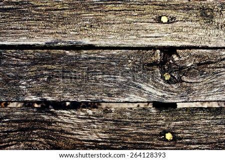 old wooden background with cracks and scuffs - stock photo
