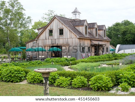 Old wooden barn on a farm in Cape May, New Jersey - stock photo