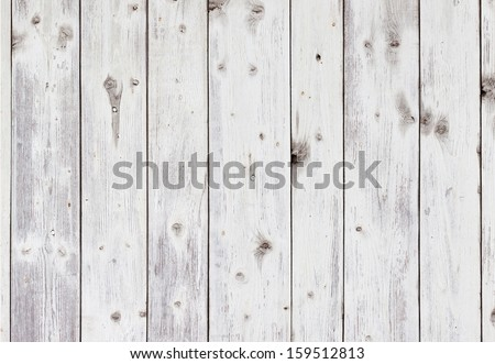 Old wooden board painted white. - stock photo