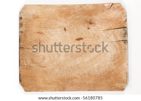 old wooden board with cracks and age marks - stock photo