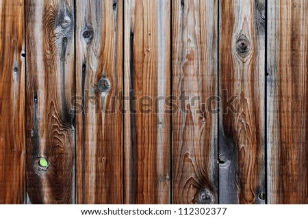 Old wooden fence, may be used as background - stock photo