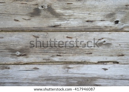 old wooden fence . old wooden boards . gray wooden wall . rusty nails old planks . rustic fence horizontal boards . beautiful wooden texture . - stock photo