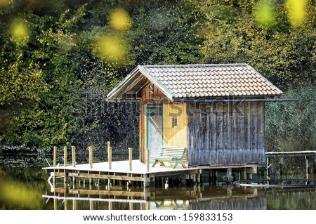 Fishing shacks stock photos images pictures shutterstock for Lawrence fish house