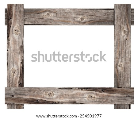Old wooden frame - stock photo