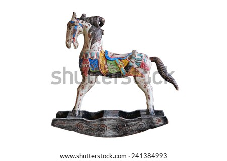old wooden horse                                - stock photo