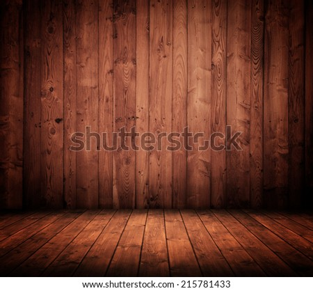old wooden interior room. - stock photo