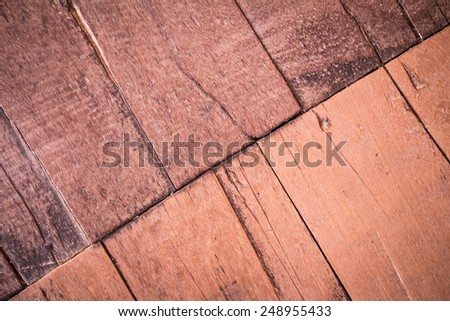 Old wooden panel used as background - stock photo