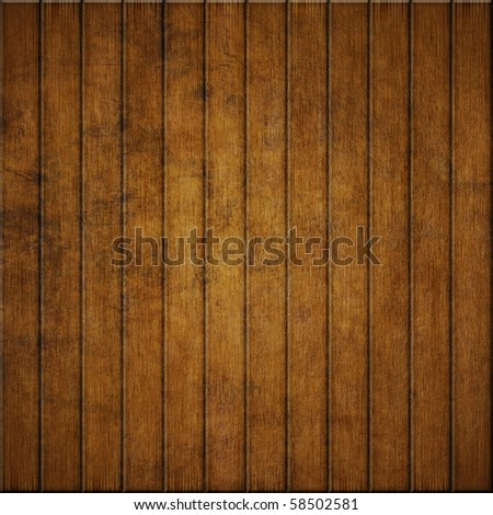 old wooden planks wall - stock photo