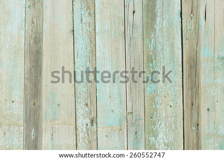 Old  Wooden Planks with cracked color Paint, Background - stock photo