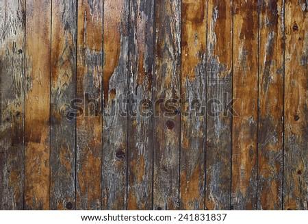 OLD WOODEN SLATS - stock photo