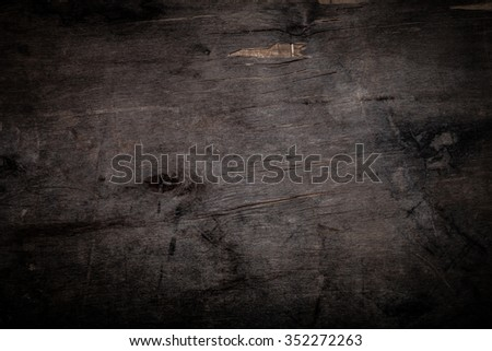 Old wooden table or board for background. Space for text. Toned. - stock photo
