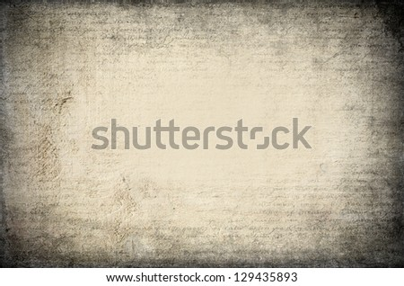 Old wooden texture with letters overlayed - stock photo