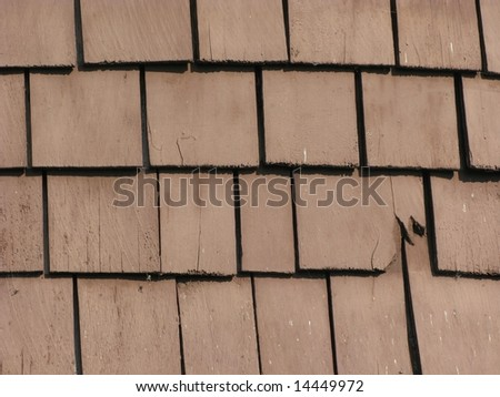 Old wooden tiles - stock photo