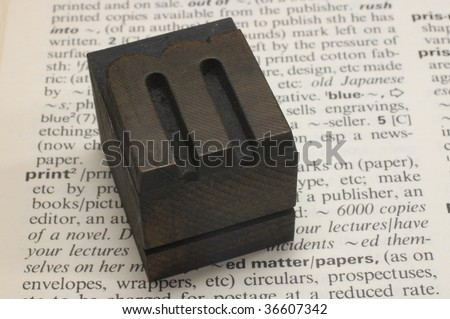 old wooden type - stock photo