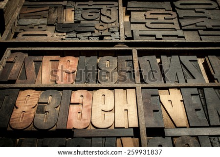 old woodtypes - stock photo