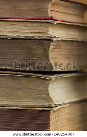 old worn books - stock photo