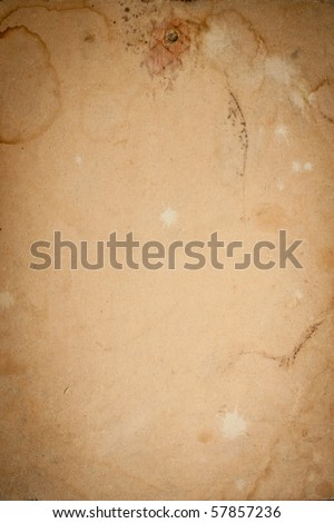 Old worn cardboard paper decorative texture - stock photo