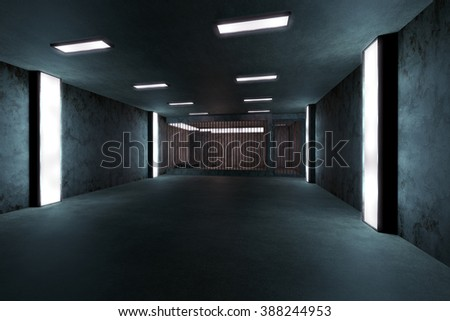 Old Worn Out Dwelled Private Prison Cell Scene 3D Illustration - stock photo