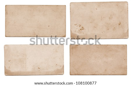 Old yellowish paper - stock photo