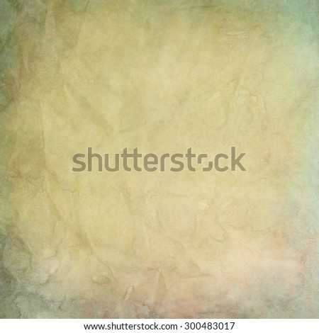 old yellowish paper texture or background with water stains  - stock photo