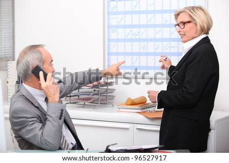 Older business team - stock photo