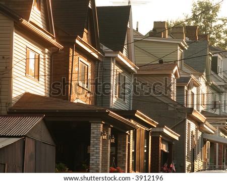 Older houses - stock photo