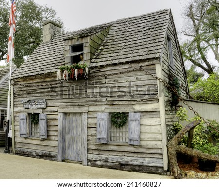 Oldest Schoolhouse in the U.S. in St. Augustine, Florida - stock photo