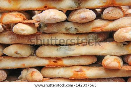 Olive Bread, Borough Market, London England - stock photo