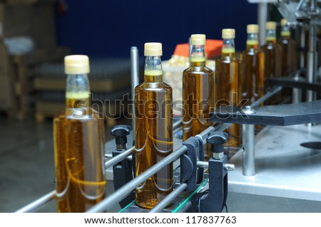olive oil industry - stock photo