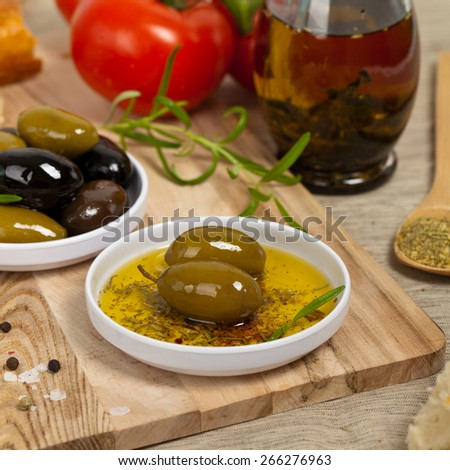 Olive Oil. Selective focus. - stock photo
