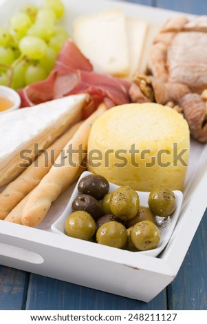 olives with cheese - stock photo