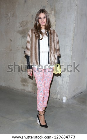 Olivia Palermo arrives at the Unique show as part of London Fashion Week AW13, Tate Modern, London. 17/02/2013 Picture by: Henry Harris - stock photo