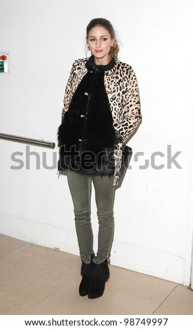 Olivia Palermo arriving for the Matthew Williamson AW 2012 show during London Fashion Week. 19/02/2012 Picture by: Simon Burchell / Featureflash - stock photo