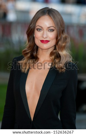 "Olivia Wilde arriving for the ""Rush"" World premiere at the Odeon Leicester Square, London. 02/09/2013 - stock photo"