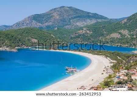 Oludeniz beach, Fethiye (Turkey) - stock photo