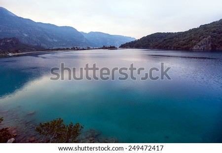 oludeniz lagoon in sea landscape view of beach  - stock photo
