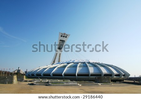 Olympic stadium in Montreal - stock photo