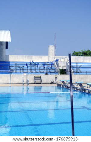 Olympic standard Swimming and diving Pool - stock photo