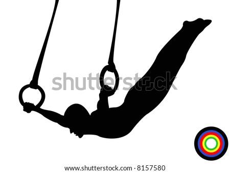 Olympics Gymnastics Rings - stock photo