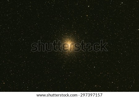 Omega Centuari Globular Cluster with Nebula ,Galaxy,Open Cluster, stars and space dust in the universe long expose. - stock photo