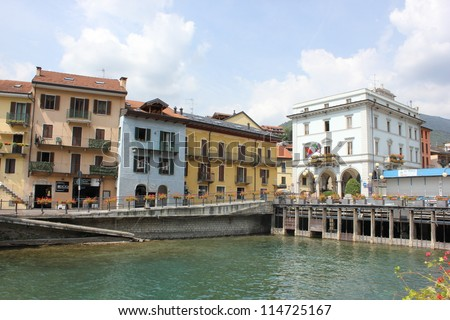 Omegna, Orta Lake, Italy - stock photo
