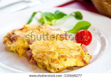 Green Eggs And Ham Omelet Recipe — Dishmaps