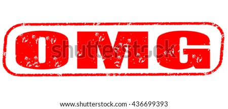 omg stamp on white background. - stock photo