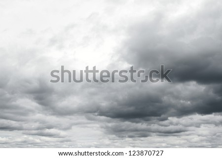 Ominous storm clouds. - stock photo