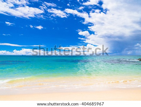 On a Beach Heavenly Blue  - stock photo