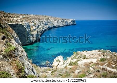 On a beautiful sunny day. Gozo Island, Malta.  - stock photo